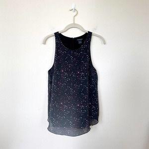 [Club Monaco] Galaxy Print Silk Sleeveless Blouse